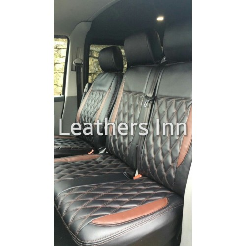 Front Single /& Double Leatherette Seat Covers VW TRANSPORTER T5 2004-2015